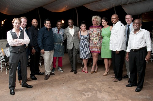 Chef Mark McEwan, Anne Burrell, Chef Garces, Marcus-Samuelsson, Aaron McCargo, Jr. and others at Barbados Food And Wine & Rum Festival in 2012. File Photo: Barbados Tourism