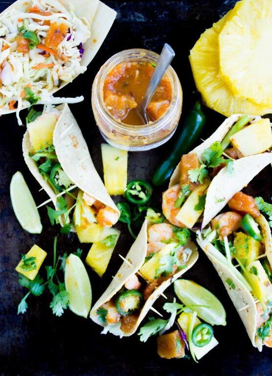 McEwan_Shrimp Pineapple Chili Salsa Tacos_Two Purple Figs_Shops at Don Mills